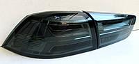Mitsubishi Lancer X оптика задняя черная A6 стиль