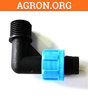 Колено с наружной резьбой 1/2 для ленты Santehplast SL-002.3(1/2) - Фитинги для Капельной ленты и трубки
