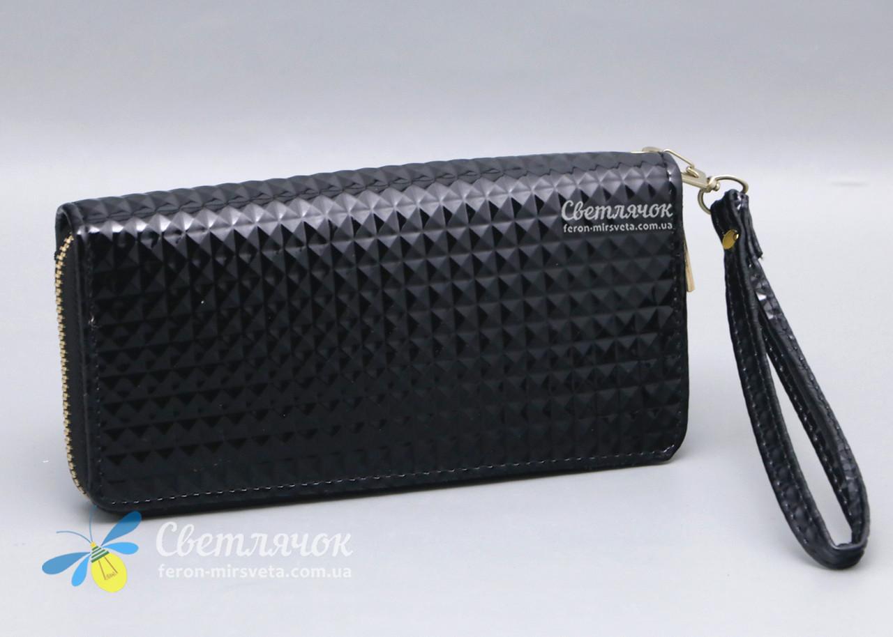 b4cc09fc58d7 Купить Кошелек клатч женский черный лаковый на молнии в Харькове от ...