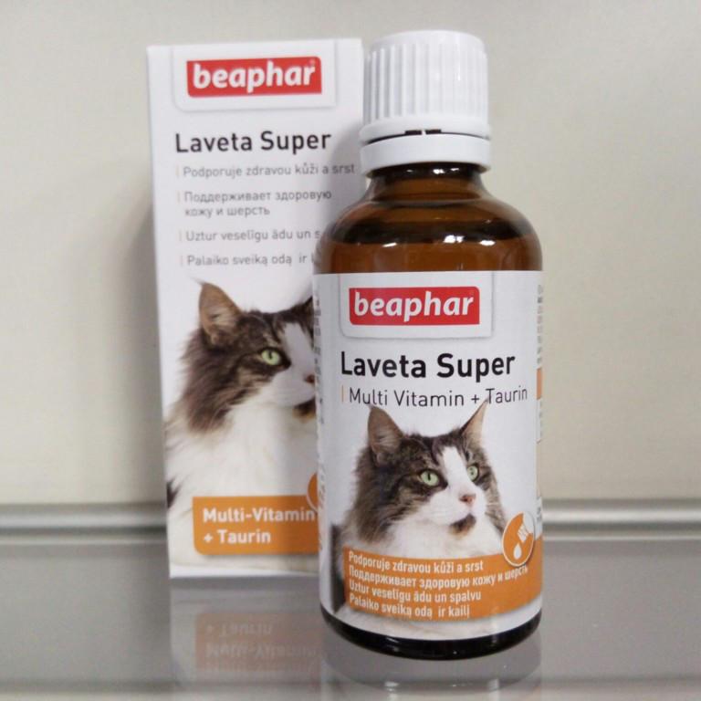 ЛАВЕТА СУПЕР БЕФАР LAVETA SUPER BEAPHAR жидкая мультивитаминая пищевая добавка для шерсти кошек, 50 мл