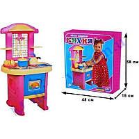 """Кухня №4 3039 (3) """"ТЕХНОК"""" в коробке, игровой набор для девочек, посудка, плита, игра"""