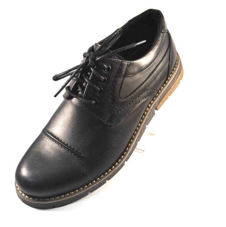 Полуботинки мужские кожаные Rosso Avangard Winterprince Duke Black Leather  Street черные -