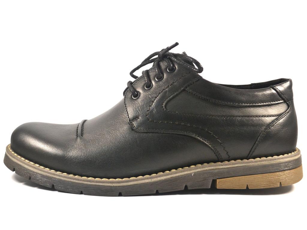 Мужская обувь больших размеров полуботинки кожаные Rosso Avangard Winterprince BS Duke Black Leather Street