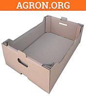 Лоток Виноградный бурый 560*380*150 мм из гофрокартона для фруктов овощей 18 кг - Ящики из гофрокартона и Шпона