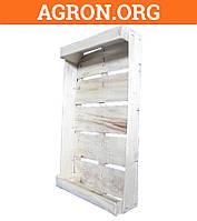 Лоток ящик Клубничный 490*310*100 мм из деревяного шпона для фруктов ягод овощей насыпом
