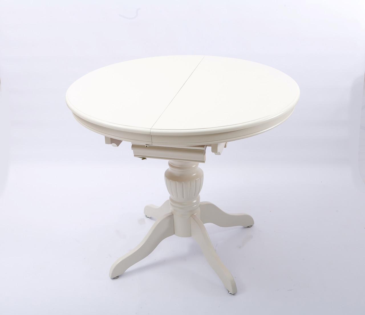 Круглый раскладной стол WT48 110 см Cream
