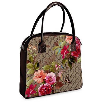 Женская сумка с цветами Оксфорд, фото 2