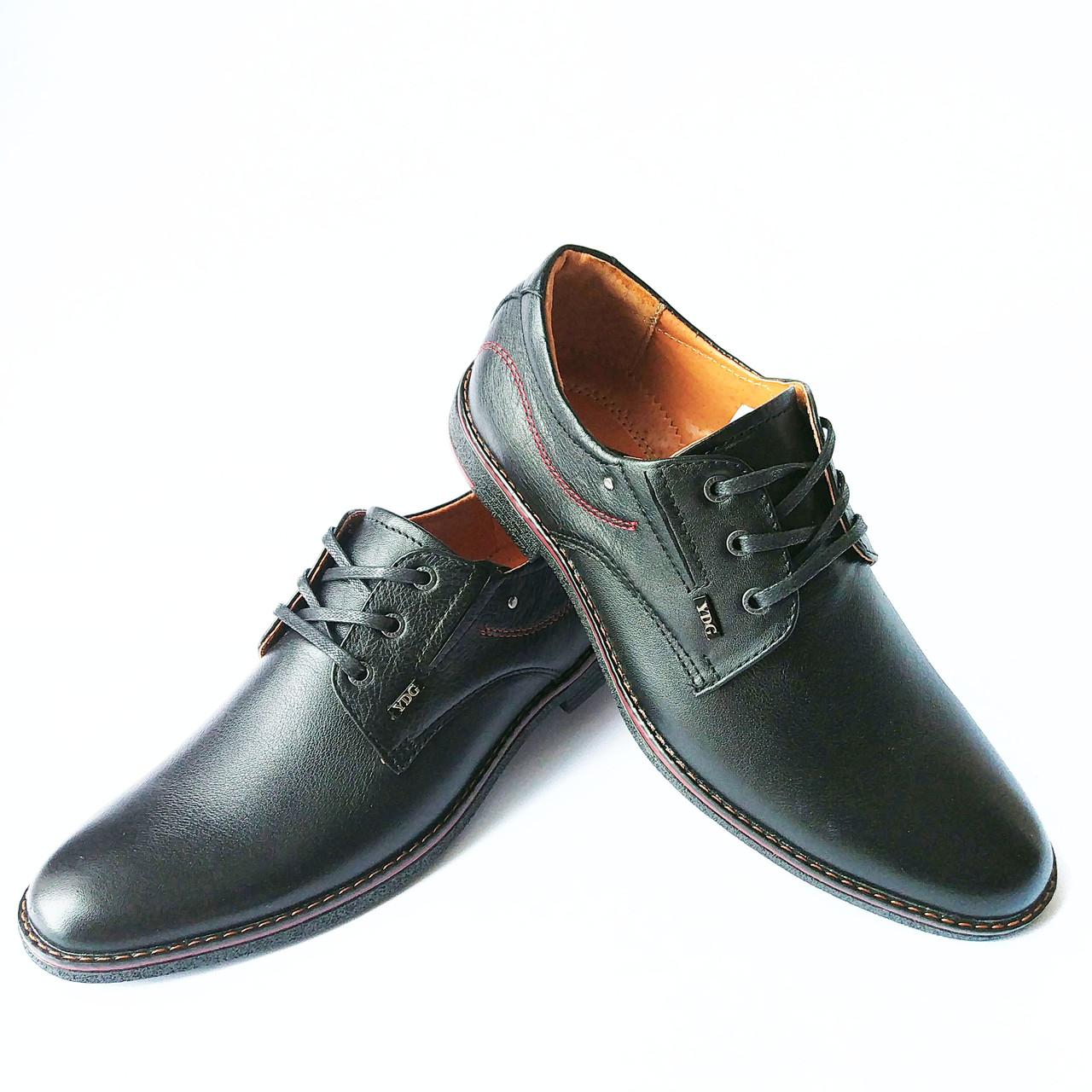 Мужская обувь YDG bellini   туфли кожаные, черные, повседневные -  Интернет-магазин