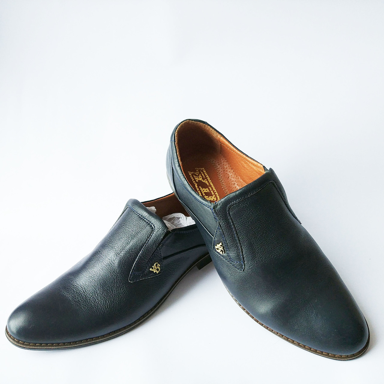 Харьковская обувь фабрика YDG   кожаные, синие, классические туфли ... 314107a1c43