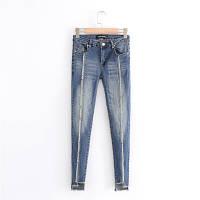 Узкие джинсы с бахрамой, фото 1