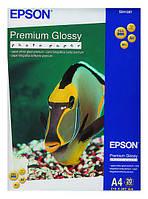 Фотобумага Epson, глянцевая, A4, 255 г/м2, 20 л, Premium Series (C13S041287)