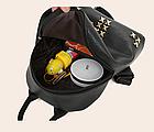 Рюкзак женский кожзам мини с фурнитурой Крестики, фото 7