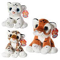 Мягкая плюшевая игрушка Дикие кошки 0307: 3 вида, 25см (тигр, леопард) + звук
