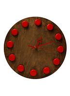 Настенные часы CAPS WATCH 2 с красными стрелками 12 пробок