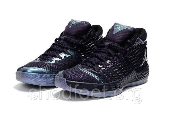 Подростковые баскетбольные кроссовки Nike Jordan Melo M13 Blue