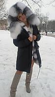 Зимняя парка с мехом арктики .