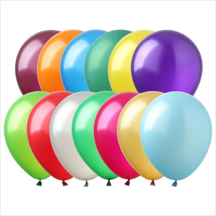 "Воздушные шары 5"" ассорти металлик (metallic assorted) 100 шт Арт Шоу"