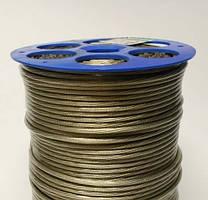 Трос металлополимерный Д.4 мм. в ПВХ