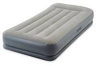 Надувная кровать Intex 64116 Mid-Rice Airbed 99х191х30см, встроенный насос 220V