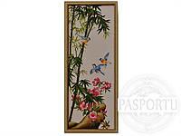 Набор для вышивки картины Волшебные синие птицы 91х40см 373-37010681