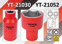 """Головка изолированная VDE/1000V 1/2""""  10-32 мм, YATO"""