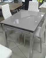 Стол стеклянный раскладной обеденный ТВ17 кофе с молоком, 110/170*75*75 см
