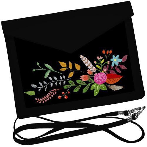 Стильный клатч конверт с цветами