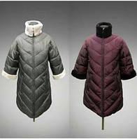 Курточка женская удлиненная 3/4 рукав PLIST 52/54, бордо