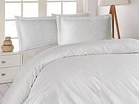 Жаккардовое постельное белье Nazenin сатин (евро-размер) № Serena Krem NJ-105, фото 1