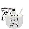 Сахарница с ложкой 450мл 'Черная кошка' 2242-12