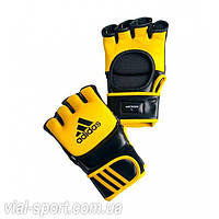 Перчатки трен. ММА/COMBAT кожа желто/черн