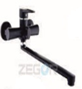 Смеситель для ванны длинный гусак в черном цвете ZEGOR (TROYA) PUD7-A045-B