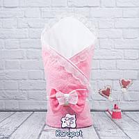 """Конверт одеяло на выписку """"Lumino"""" весна (розовый)"""