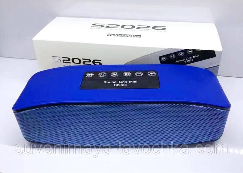 Портативная bluetooth колонка S2026
