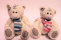 Мишка Тедди, вязанный шарф
