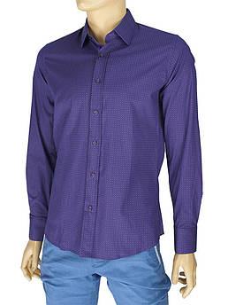 Мужская турецкая рубашка Negredo Art.9060 slim в разных цветах