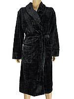 Мужской халат Key MGL 004 B7 черного цвета
