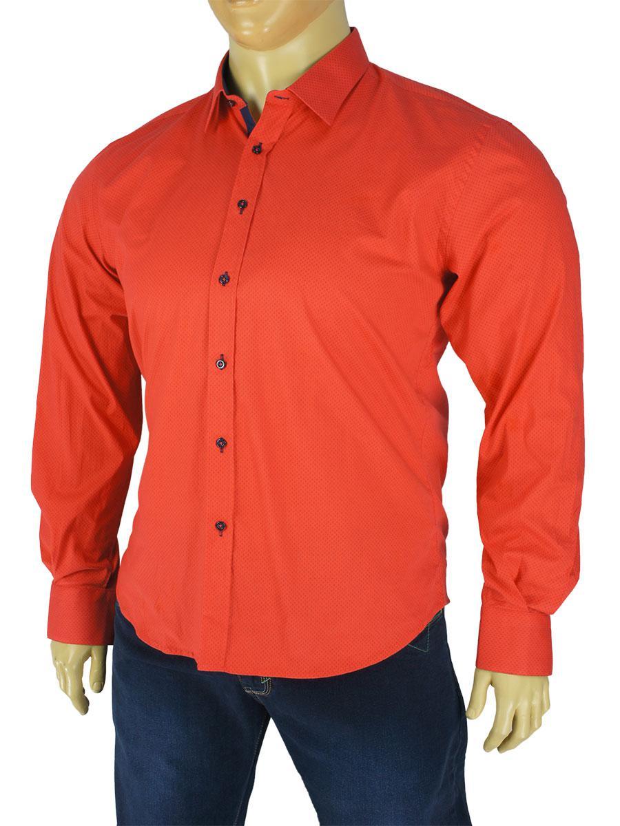 Стильная мужская рубашка Bruno Mars Art.9060 в разных расцветках