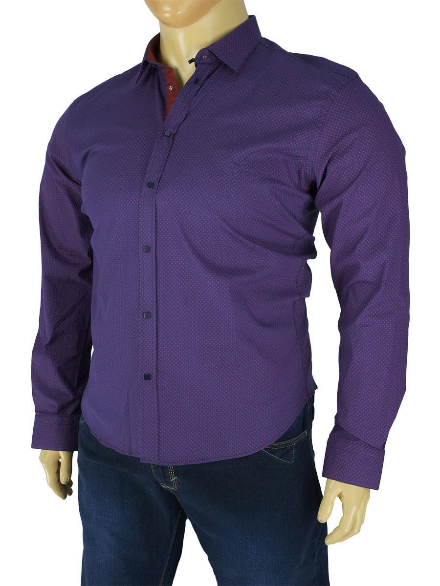 Мужская рубашка Negredo Art.9070-B slim разных цветов