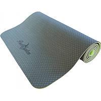 Йога-мат фиолетовый и зеленый 6мм