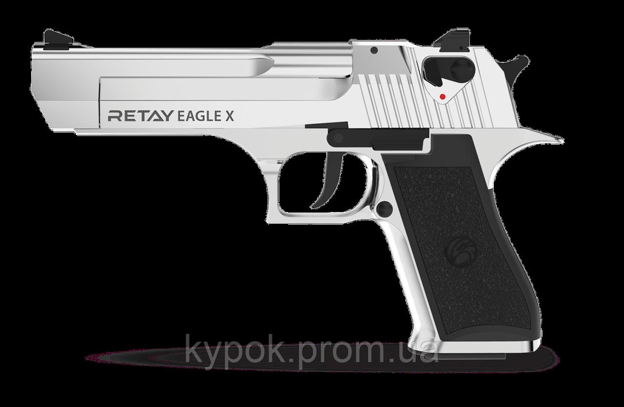 Пистолет стартовый Retay Eagle X кал. 9 мм цвет:nickel