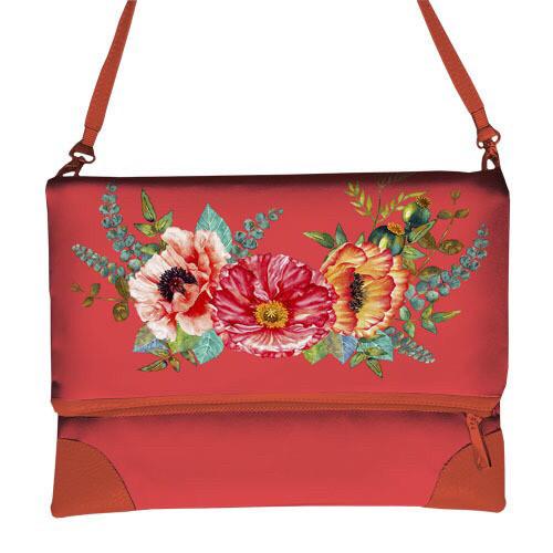 Женская летняя сумка через плечо с принтом маки