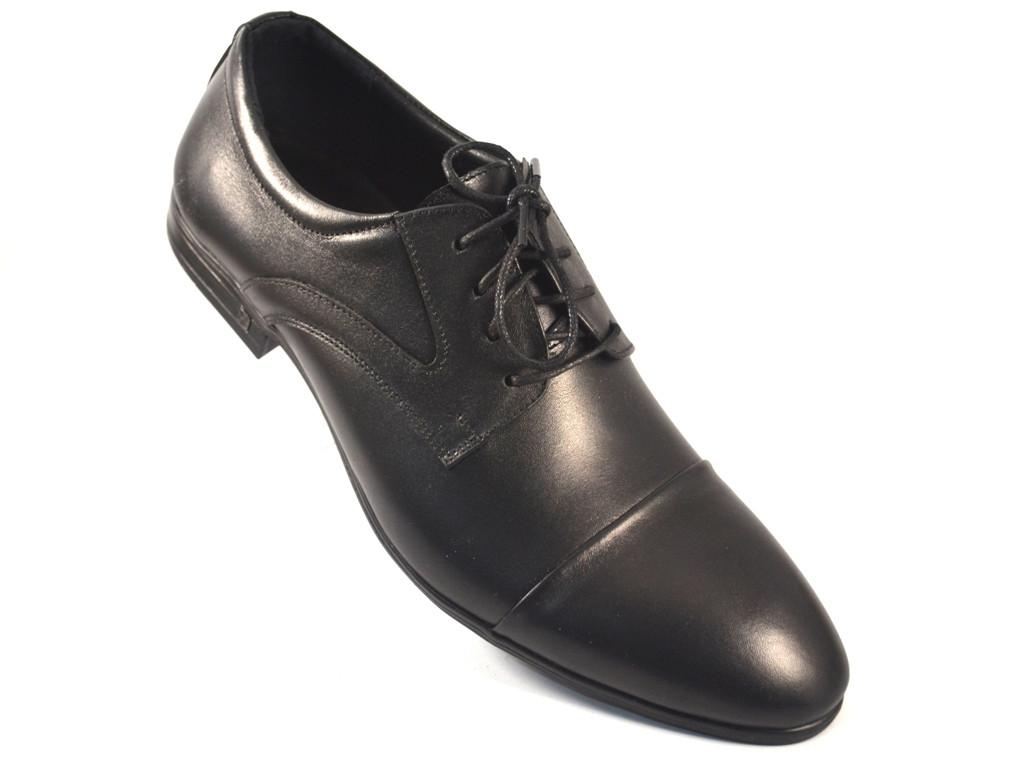Туфли дерби мужские кожаные классические черные Rosso Avangard Lord Derby Black