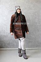 Женская шуба из южно-американского  бобра, воротник-норка, индпошив, фото 1