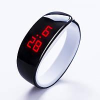 Часы в виде браслета LED Черные