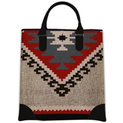Женская большая сумка Мини с принтом Орнамент, фото 2