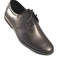 Туфли кожаные черные мужская обувь комфорт на каждый день Rosso Avangard Carlo Attraente Black Ink, фото 1