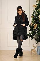 """Асимметричная женская куртка-трансформер """"TERNIDA"""" с карманами (2 цвета), фото 2"""