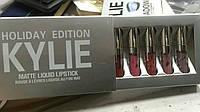 Новинка! Набор помады Kylie Birthday Edition (6 цветов) ( silver)