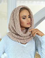 Красивый модный шарф-снуд от Kamea -  Francesca. 56-58, светло-серый